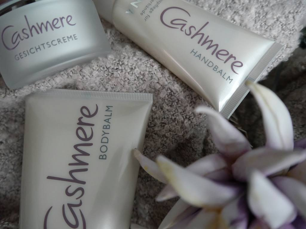 Alcina Cashmere-Luxuspflegeserie Gesichtscreme Handbalm und Bodybalm bei zeitlos bezaubernd