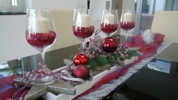 DIY Adventskalender aus Gläsern
